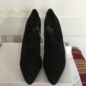 """Pedro Miralles Shoes - PEDRO MIRALLES BLACK SUEDE HIGH HEEL 4"""" BOOTIES"""